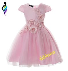 ea8f51b16e Cielarko Girls Dress Birthday Party Baby Flower Dresses Appliques Mesh Kids  Wedding Frocks Children Evening Ball Gowns for Girl