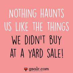 Yard sale humor