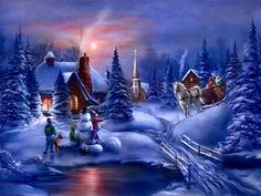 Beautiful Christmas Scenes | winter, scenes, christmas,