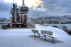 Gasworks Park Snowy HDR | Ari Takes Pictures