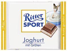RITTER SPORT Fake Schokolade Joghurt mit Gräten