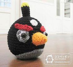 DANSK opskrift - Hæklet Angry Bird