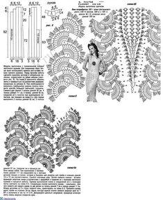 нарядные платья крючком со схемами для женщин: 12 тыс изображений найдено в Яндекс.Картинках