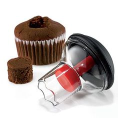 Scooping out the middle of a cupcake to tuck in a sweet filling is a one-step task with this OXO Cupcake Corer. | Coastalliving.com
