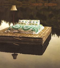 Great idea from #Anthropologie for kicking back on the lake. Looks like summer in #Missouri.