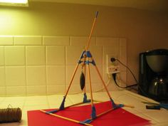 Quick and cheap trebuchet made out of easily obtained materials.