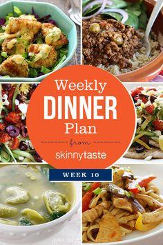 Skinnytaste Dinner Plan (Week 10)