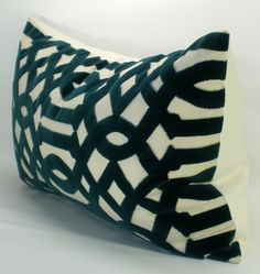 Items similar to Schumacher Imperial Trellis Velvet lumbar pillow cover in Peacock on Etsy Velvet Pillows, Throw Pillows, Cushion Ideas, Schumacher, Trellis, Pillow Covers, Cushions, Cool Stuff, Unique Jewelry