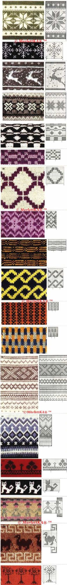 узоры для вязания