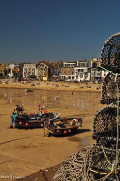 St Ives, Cornwall. The perfect day: glorious sunshine, and bait left in the crab pots to distract the seagulls from stealing pasties.