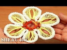 How to Make Flower Romanian Point Lace Урок 63 Румынское кружево - YouTube
