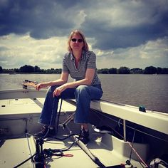 Ine at the tiller. After a 360 degree windshift still close to the wind :) Sailing, Instagram Posts, Photography, Candle, Photograph, Photography Business, Photoshoot, Fotografie, Fotografia