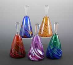 Rosetree Blown Glass Studio Perfume Bottle - Triangle