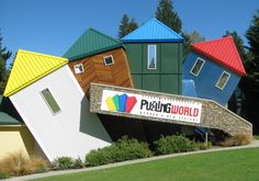 There are some simply amazing if a little unusual tourist attractions in New Zealand, this list of ten is barely scratching the surface of weird! Capital Of New Zealand, Wanaka New Zealand, Lake Wanaka, Metal Roof, The Good Place, Attraction, The Neighbourhood, Weird, Places