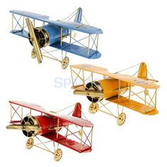 Vintage Tin Flying Biplane Airplane Military Aircraft Decor Play Toy As You Wish Air Festival, Vintage Trends, Vintage Designs, Vintage Ideas, Vintage Airplanes, Vintage Cars, Metal Tins, Model Airplanes, Air Show