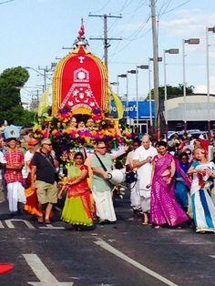 Iskcon Gold Coast Bhakti Centre, Toowoomba Festival of Flowers Rathayatra
