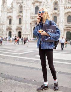 os Achados | Moda | Jaqueta Jeans Oversized
