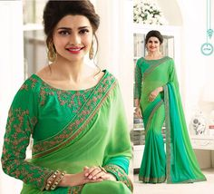exclusive indian sarees embroidery blouse bollywood pakistani wedding party sari