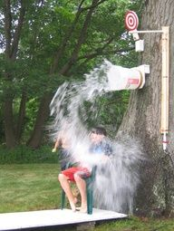 DIY Outdoor Games ~ Dunk bucket & other home made outdoor games for kids birthday parties, events & celebrations. Fun summer crafts & games kids will have fun playing. Great carnival, circus or pool party theme ideas for entertaining. Summer Games, Summer Activities For Kids, Games For Kids, Outdoor Activities, Summer Fun, Fun Games, Summer Ideas, Family Games, Summer Crafts