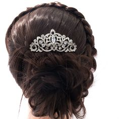 Pageant Bridal Hairpins Flower Hair Comb for Wedding Hair Accessories Rhinestone Crystals 2015 Fashion Wholesale Jewelry CO2297R-in Hair Jewelry from Jewelry on Aliexpress.com   Alibaba Group