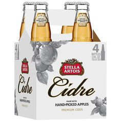 Stella Artois Cidre - I try a lot of hard ciders because they're more refreshing than beer and don't make me itch the way white wine does.  I felt completely pretentious when buying it, but it's fucking delicious.