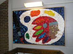 Art With Mr. E: A Post I had To Share:  Bottle Cap Mural