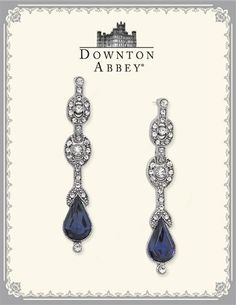 DOWNTON ABBEY BLUE SAPPHIRE JEWEL DROP EARRINGS