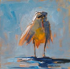 Relaxing by Kevin LePrince | 6x6 Oil Painting | $300