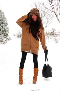 long coat with Boots with Leggings