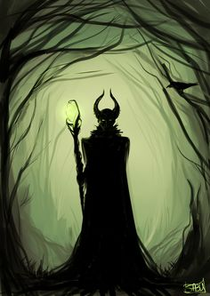 Maleficent by sabuchan. No this isn't in the wrong board. I am essentially Maleficent. Arte Disney, Disney Fan Art, Disney Love, Evil Disney, Disney Magic, Disney And Dreamworks, Disney Pixar, Maleficent Art, Malificent