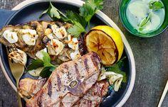 Stekte lammekoteletter og chevregratinerte auberginer Kiwi, Steak, Pork, Chicken, Dinners, Eggplant, Lamb, Kale Stir Fry, Dinner Parties