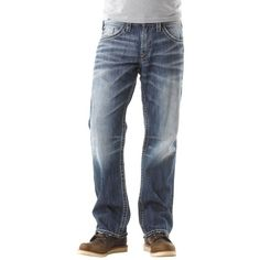 SILVER JEANS CO. men's Relaxed Fit ZAC JEAN DENIM SHORTS Light ...