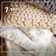 Fundas y cojines para éste verano, diferentes texturas y formas ;) Merino Wool Blanket, Cases, Toss Pillows, Summer Time