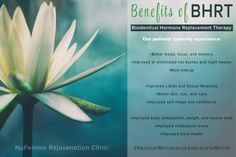 Benefits of Treating Menopause with BHRT. . Learn more: http://www.nufemme.com/medical-services/bio-identical-hormone-replacement-therapy.html . #NationalMenopauseAwarenessMonth
