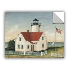 David Carter Brown Lighthouse Keepers House Wall Decal
