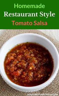 Tasty and spicy, this Homemade Restaurant Style Tomato Salsa recipe makes enough…
