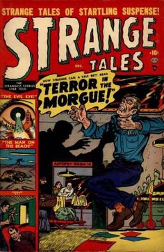 A cover gallery for the comic book Strange Tales Vintage Comic Books, Vintage Comics, Vintage Posters, Marvel Comic Books, Marvel Comics, Marvel Masterworks, Strange Tales, Horror Comics, Scary Comics