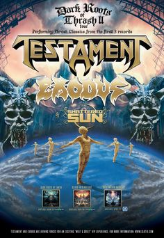 TESTAMENT To Play Hits From Their First Three Albums on Spring 2015 Tour with EXODUS; Dates Announced