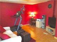 Large first floor bedroom currently used as a family room - 642 Marilla St Buffalo, NY, 14220