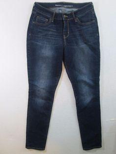 Old Navy Curvy Profile Stretch Mid Rise Dark Legging Jeans Size 6 Reg.  #958 #OldNavy #CurvyLeggings