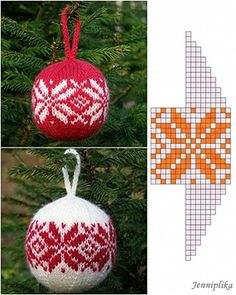Helena pesa: Esimene jõulukuuli muster…The first Christmas ball pattern - knittings christmas Knitted Christmas Decorations, Knit Christmas Ornaments, Christmas Toys, Christmas Knitting, Christmas Projects, Christmas Stockings, Crochet Ball, Doilies Crochet, Theme Noel