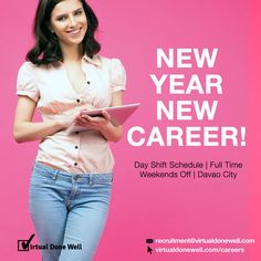 If your New Year's resolution is to get a new job, submit your resume to recruitment@virtualdonewell.com or request your interview schedule at virtualdonewell.com/apply/ and get closer to finding a job you will love <3 #NowHiring: • Web Developers • Virtual Assistants  • Accountant #CareersAtVDW #DavaoJobs