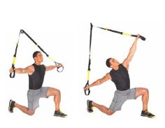 TRX Half Kneeling Hip Flexor Stretch (w/ Roatation) Stand Facing Away Integrates thigh, hamstring, hip flexor and torso stretch for improved posture. Tips: Keep tailbone tucked under and rotate shoulders. Perform on both sides. ADJUSTMENT: M Flexibility Exercises | TRX Suspension Training
