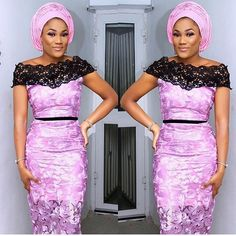 Online Hub For Fashion Beauty And Health: Flawless Asoebi Skirt And Fitted Blouse For The Cu...