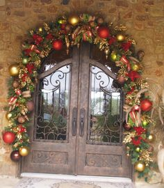 christmas decorating all decked out for christmas red lime green - Decorated Christmas Wreaths Pinterest