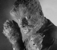 """The Wolf Man's Portrait  Here is Lon Chaney, Jr. as the Wolf Man from """"Abbott and Costello Meet Frankenstein""""."""