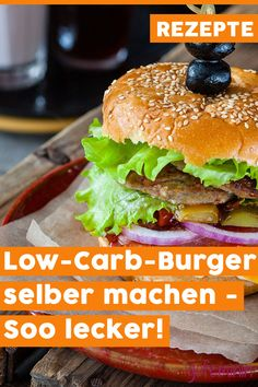 Low-carb burger: Fast food without carbohydrates tastes so delicious! - Low-carb burger: Fast food without carbohydrates tastes so delicious! Healthy Burger Recipes, Vegan Recipes Easy, Easy Homemade Burgers, Low Carb Burger Buns, Law Carb, Low Carb Meal Plan, Detox Recipes, Food Lists, Fast Food