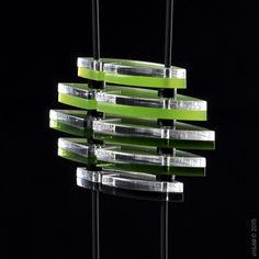 PHOENIX MINI collier modulable vert by alt&GO Paris now at the Art Gallery of Hamilton #shopatagh