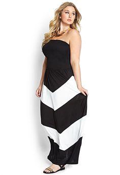 Statement Chevron Maxi Dress | FOREVER 21 - 2000107578