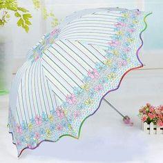 Pano-de-recem-Carambola-Dobravel-Guarda-chuva-Ondulado-Listra-Flores-Guarda-chuva-Sombrinha
